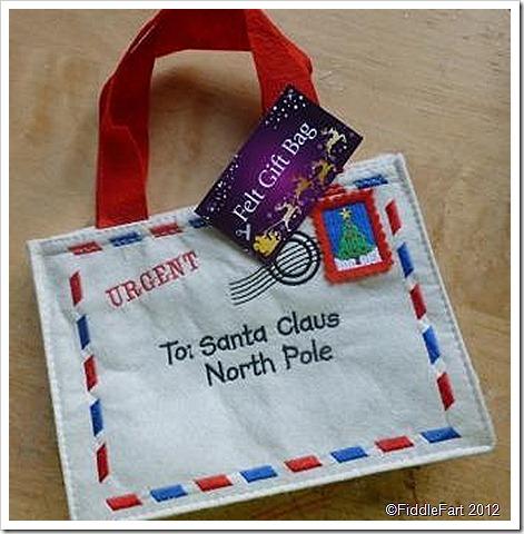 Poundland felt gift bag envelope bag