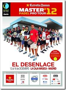 Cartel_Chicos_Master Padel Pro Tour Estrella Damm Caja Magica, Madrid 2012.