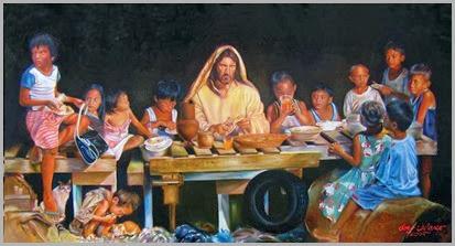 Jesus Repartindo o Alimento