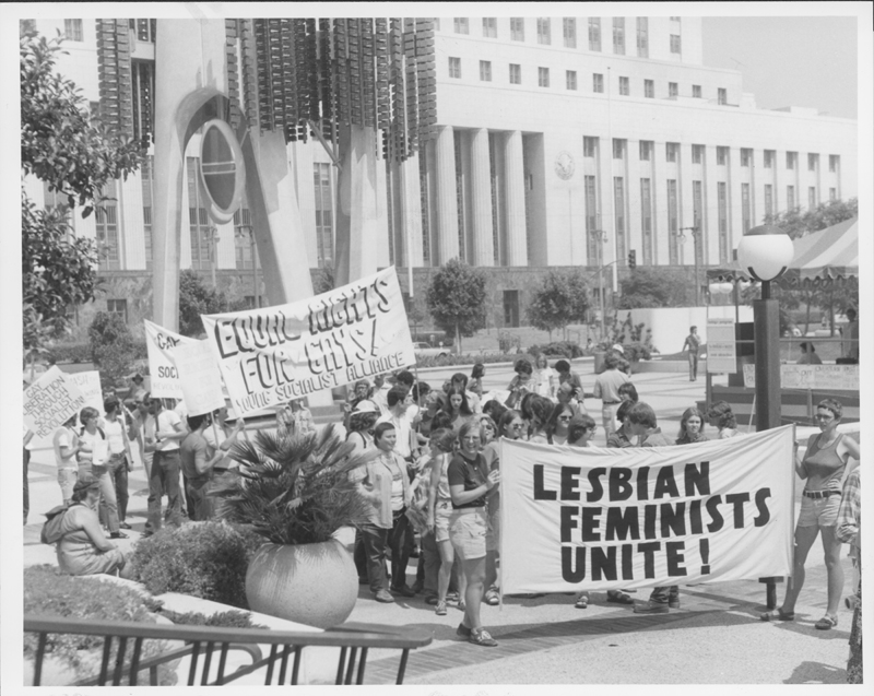 Marchers challenge President Carter's human rights stance at the Coalition for Human Rights Rally at the Los Angeles Civic Center. August 20, 1977.