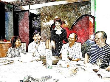 左起劉高武伉儷、中裴渙言與伊林、右王鵬東