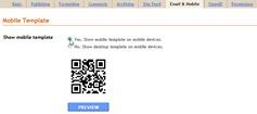 Mengaktifkan template versi mobile di Blogger