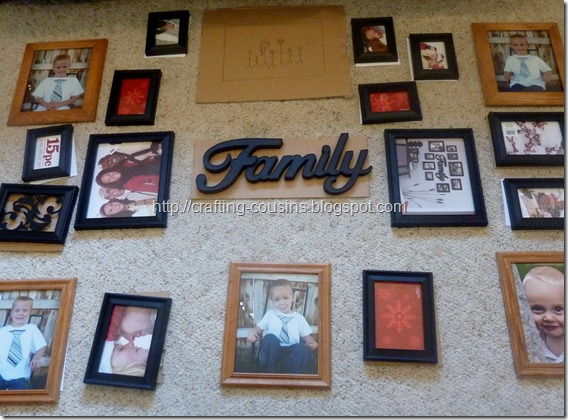 photo wall collage with vinyl (4)