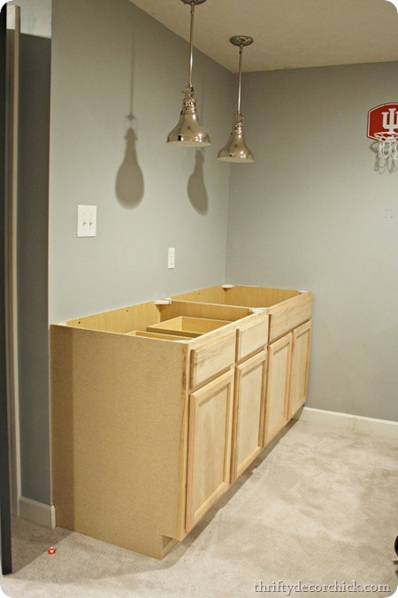 a basement kitchenette from thrifty decor chick