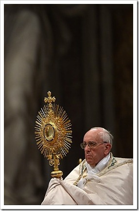 La celebrazione per il Corpus Domini