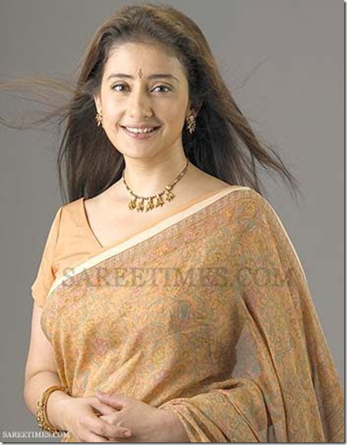 Manisha_Koirala_Printed_Saree