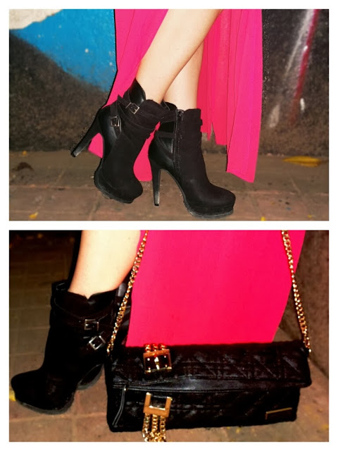 Forever 21 Black Suede Ankle Boots