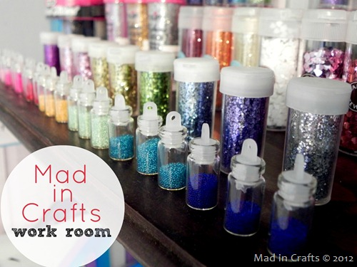 Mad in Crafts Work Room - lots of DIY ideas