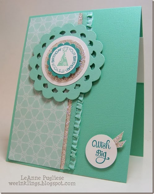 LeAnne Pugliese WeeInklings Anne Marie's Birthday Card Stampin Up