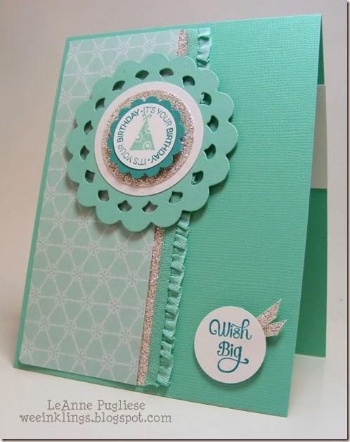 LeAnne Pugliese WeeInklings Anne Marie's Birthday Card Stampin Up