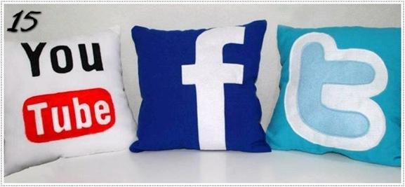capa de almofada das rede sociais