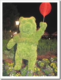Florida vacation Epcot topiary Pooh