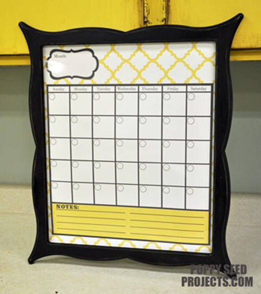 Super-Saturday-Ideas-Dry-Erase-Calendars-yellow-quatrfoil-brooklyn-trim