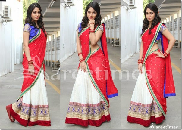 Red_White_Half_Saree