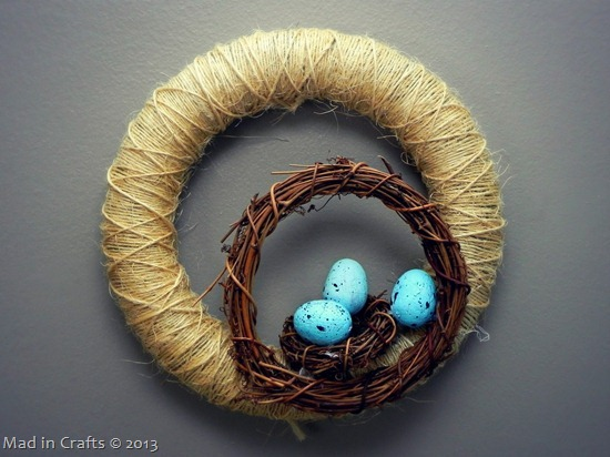Simple Nest Wreath for Spring
