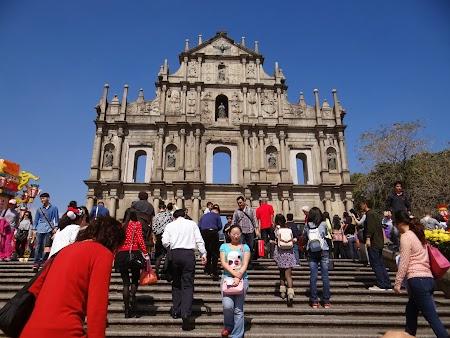 Obective turistice Macao: Fatada Sf. Paul