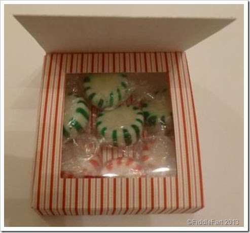 Sizzix Shaker Box. Christmas Favour. Starlight mints
