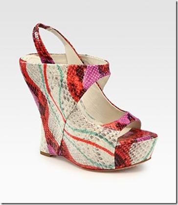 Alice Olivia Delilah Snake Print Sandals