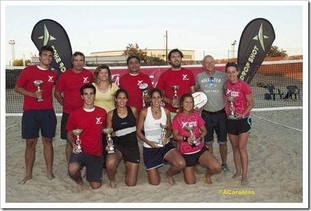 Finaliza el Campeonato de Madrid de Tenis Playa 2012 con Drop Shot como sponsor técnico.