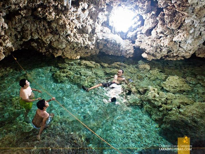 Swimming at Bolinao's Wonderful Cave