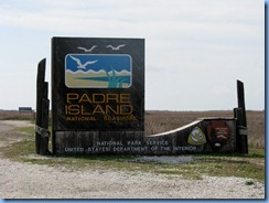 7262 Texas - PR-22 (South Padre Island Dr) - Padre Island National Seashore sign