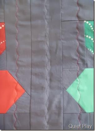 Coloured quilting thread