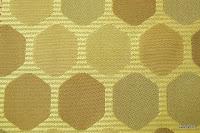 Tkanina ozdobna w geometryczne wzory. Na zasłony, poduszki, narzuty, dekoracje. Kremowa, beżowa.