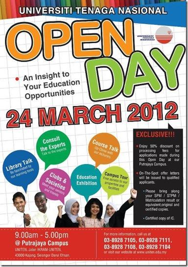poster Open day uniten