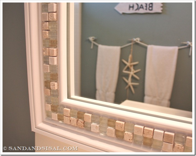 picture of a mirror with tile border