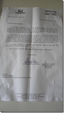 Ofício nº 255/2011/GRE/UGR