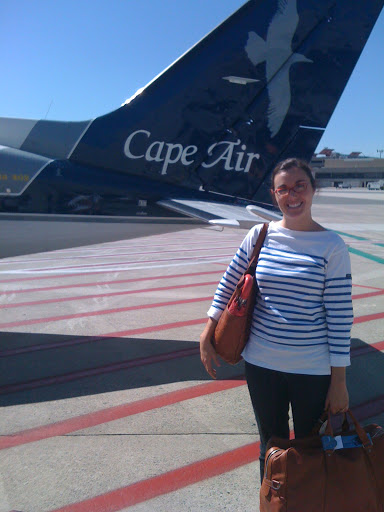 Finally, Lauren's turn to pose with the plane.