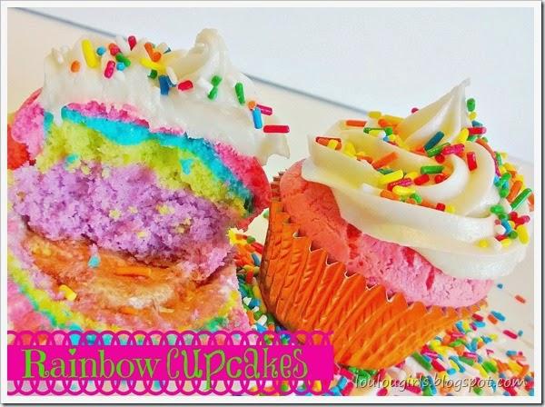 rainbow cupcake 1