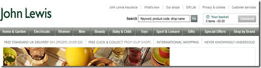 John Lewis Header Area
