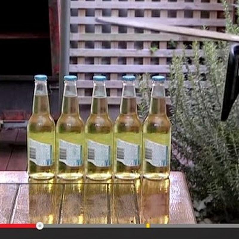 Άνοιγμα πέντε μπυρών   με αλυσοπρίονο