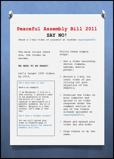 Peaceful Assembly Bill 2011
