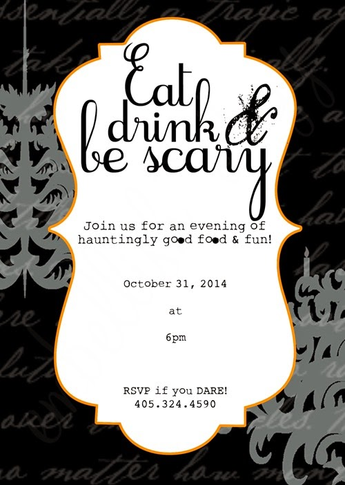 Eat Drink Scary Invite