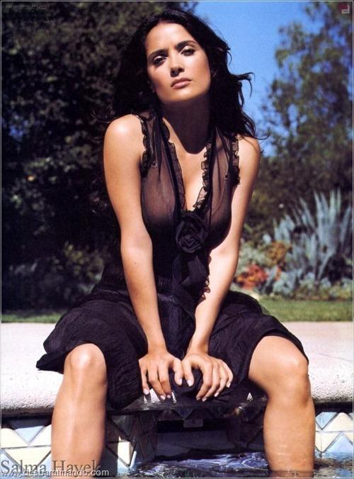 salma hayek linda sensual sexy sedutora gostosa peituda boob tits desbaratinando  (30)