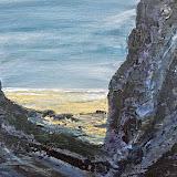 Strandje tussen de rotsen