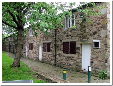 Back to back cotton mill workers cottages in Burrs Country Park, now used as an activity centre for children.
