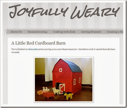 joyfully weary little red cardboard barn