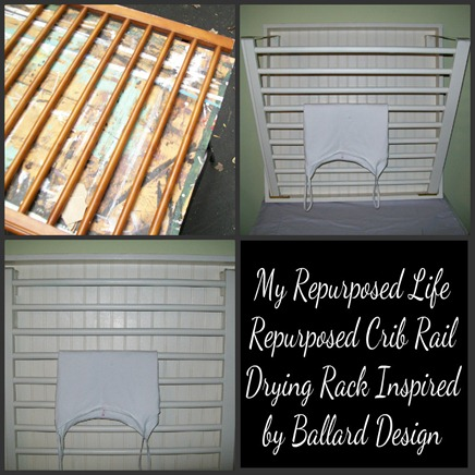 My Repurposed Life Drying Rack Inspired by Ballard Desisgn