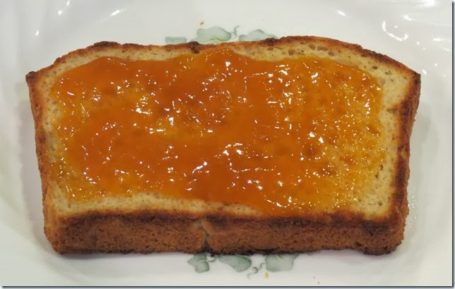 Gluten Free Buttermilk Bread with apricot jam