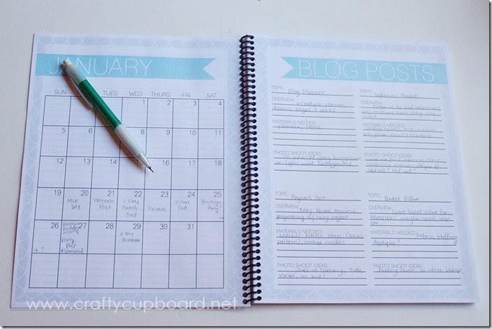 Blog Planner Calendar spread