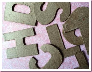 Hobbycraft papier mache letters