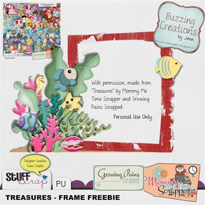 MMTS & GPS - Treasures - Frame Freebie Preview