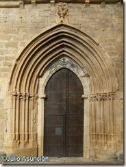 Arco gótico de la iglesia de Riezu - Valle de Yerri