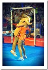 Carolina Navarro y Cecilia Reiter celebrando su victoria en el WPT GRANADA 2013