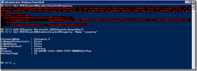 How To Map a Crawled Property to Managed Properties By PowerShell (FAST for SharePoint 2010)