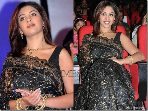 Richa_Gangopadhyay_Black_Georgette_Saree
