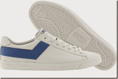 Pony Topstar Ox Leather Trainers White Blue